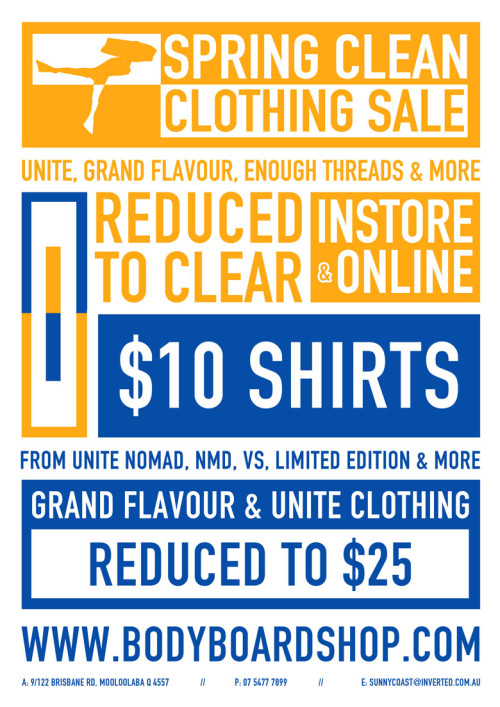 Inverted Spring Clean Sale.