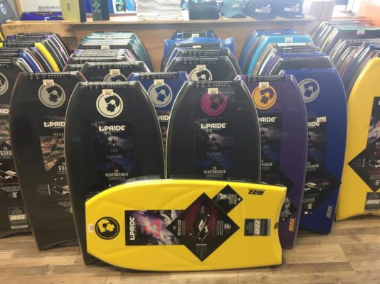 Pride Bodyboards on sale.