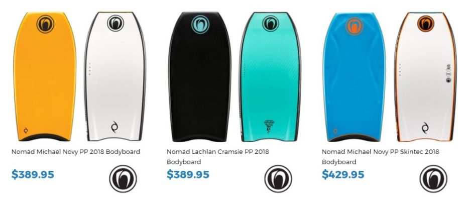 Shop Nomad18 at Inverted Bodyboard SHop