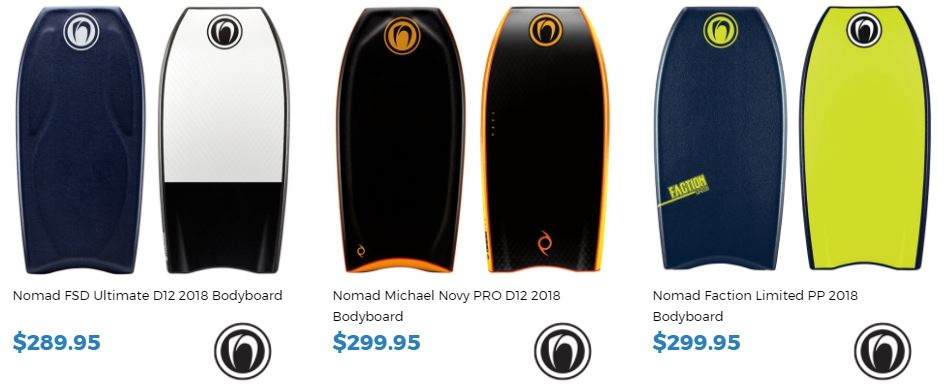 Sam Thomas rides Nomad Bodyboards buy them now at inverted Bodyboard shop