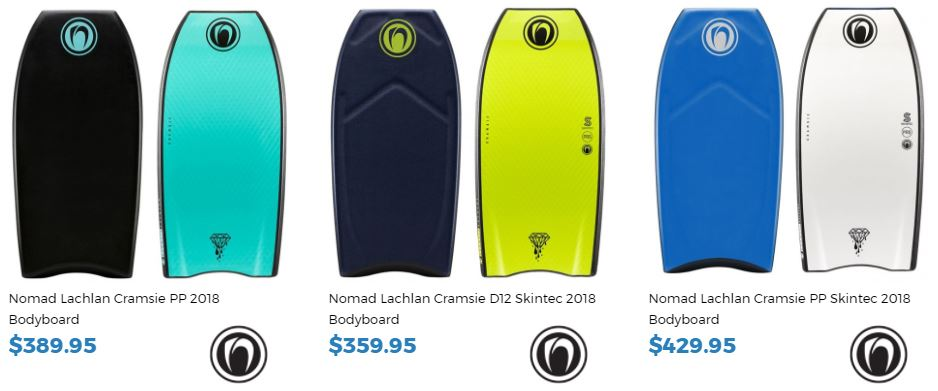 Lachlan Cramsie Inverted Bodyboard Nomad Range buy it now