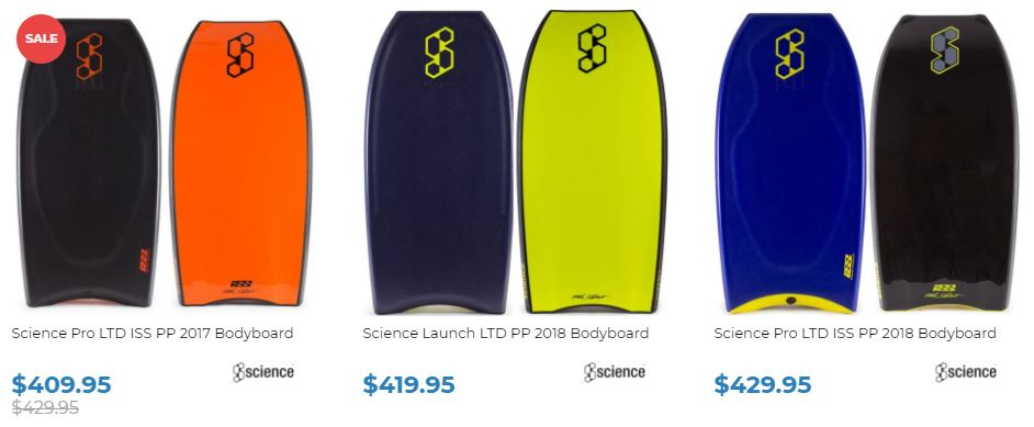 Science Bodyboard Range Inverted Bodyboard Shop 2018