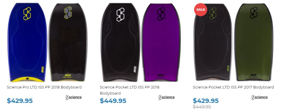Shop 2018 Science Bodyboards at Inverted Bodyboard Shop