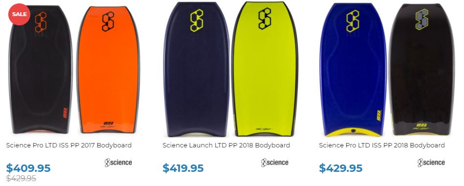 Shop Science 2018 at Inverted bodyboard Shop