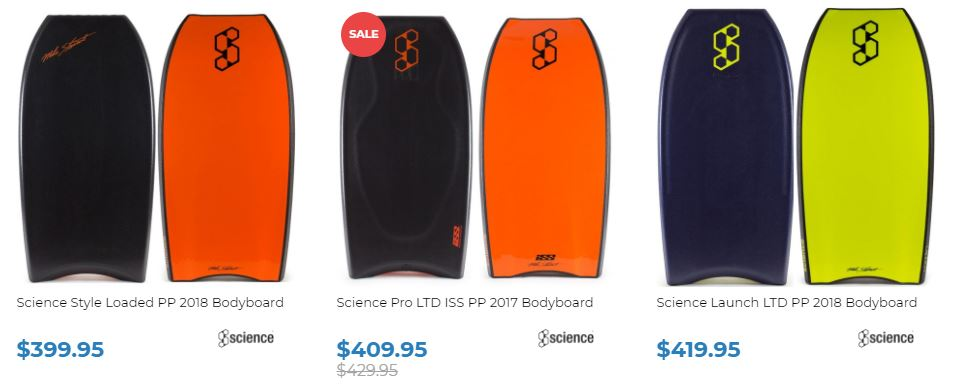 Science Bodyboards for sale at Inverted Bodyboard SHop