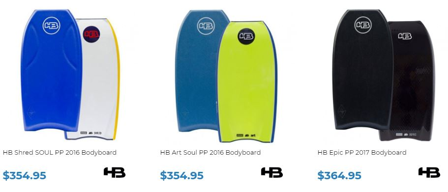 HB Bodyboards for sale at Inverted Bodyboard Shop